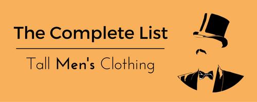 Tall Men's Clothing