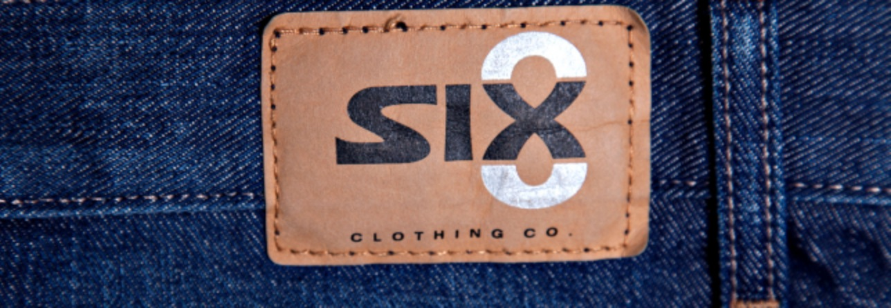 Six8 logo - clothes for tall guys