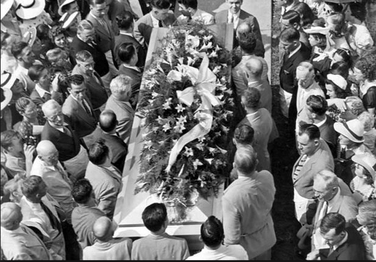 Robert Wadlow's funeral