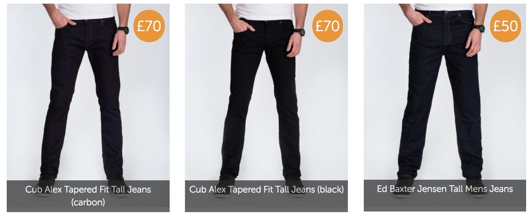 2 tall jeans black slim