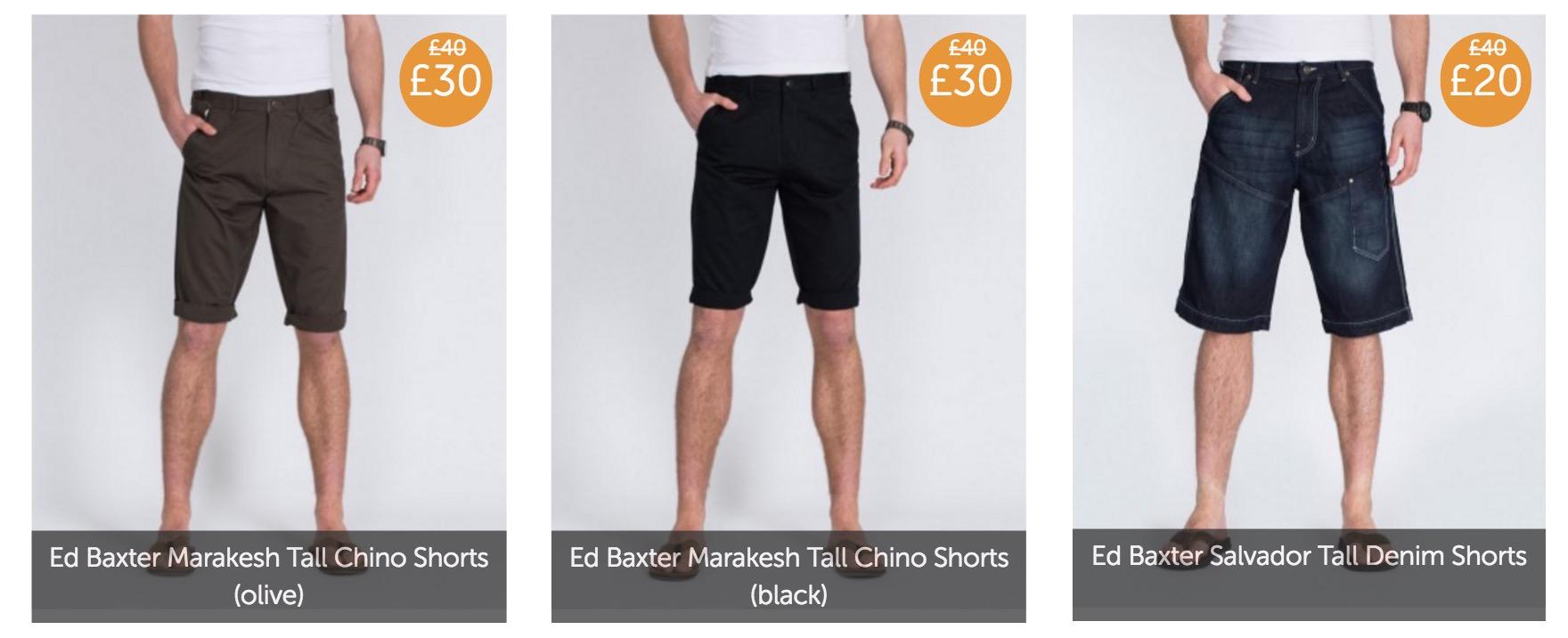 2 tall shorts