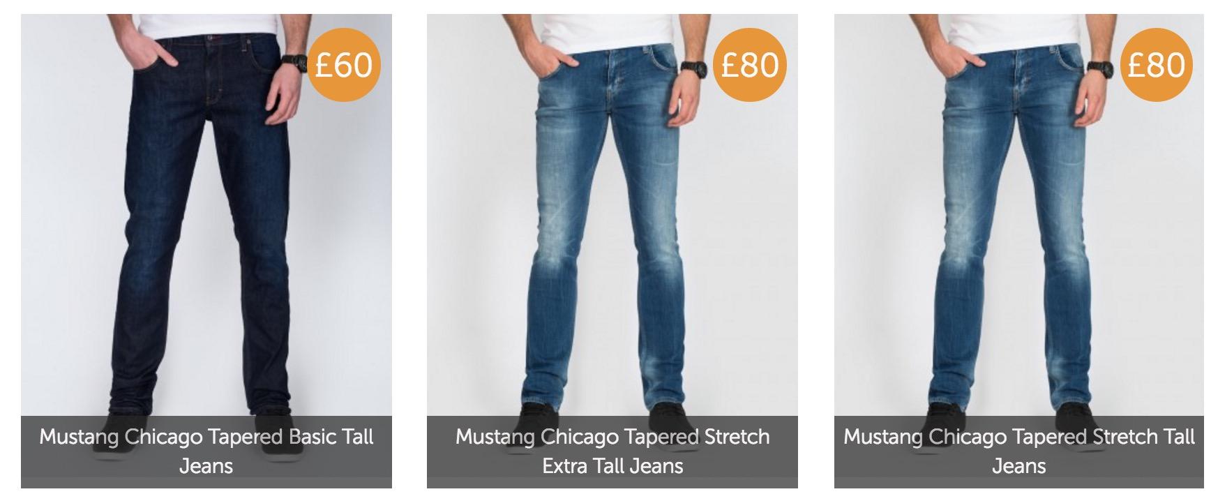 2 tall skinny jeans