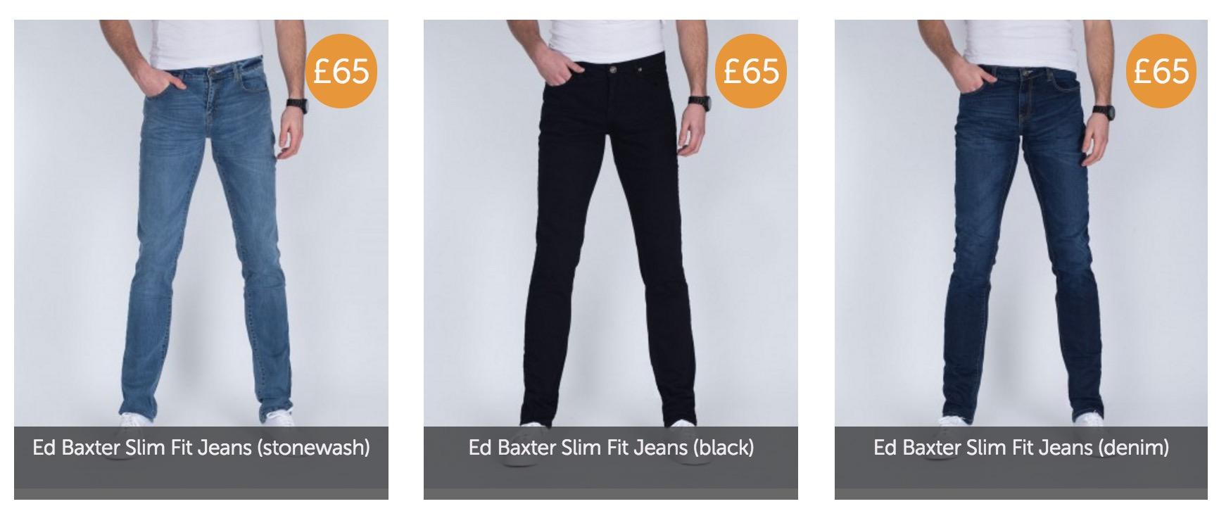 2 tall slim fit jeans