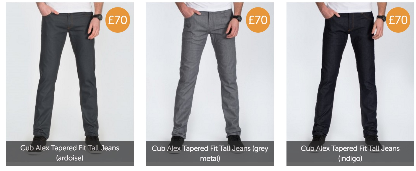 2 tall tapered jeans