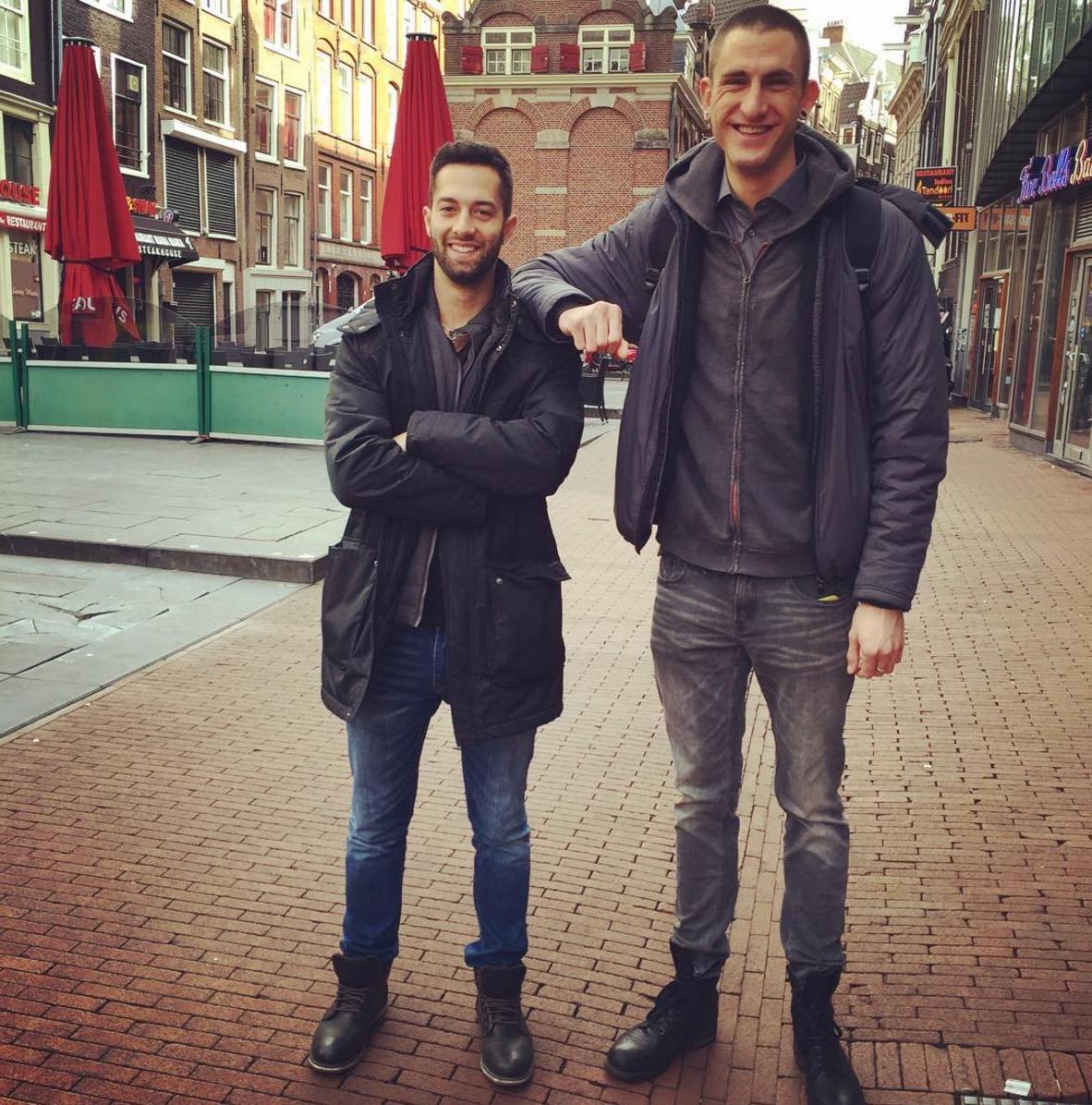 Jake and tall Sebastian