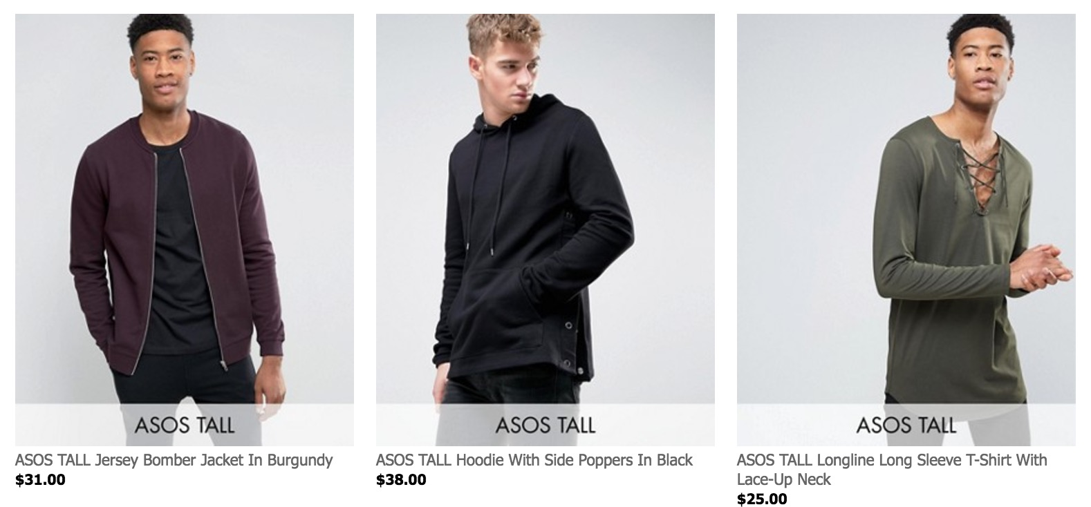The Complete List: 50  Shops With Tall Men's Clothing