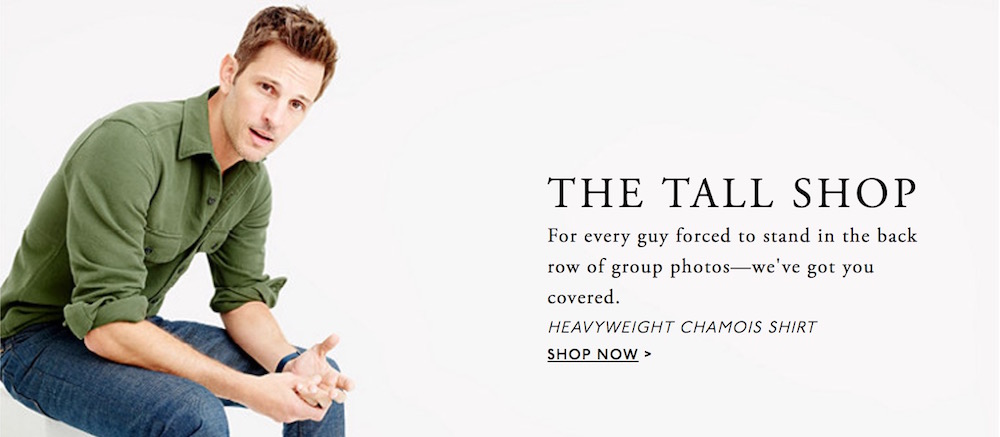 Tall Men's Clothing by J. Crew
