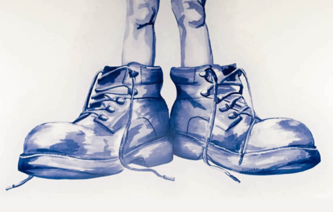 Large Shoes Drawing