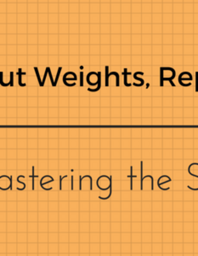 Forget about Weights, Reps and Sets Before Mastering the Stopwatch