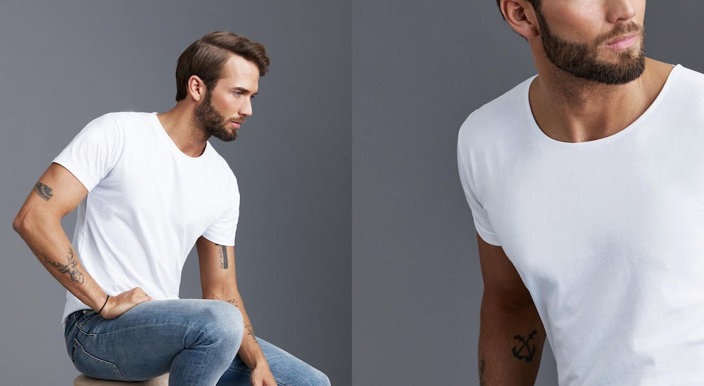 tall man fitted tshirt