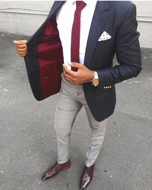 tall man fitted blazer