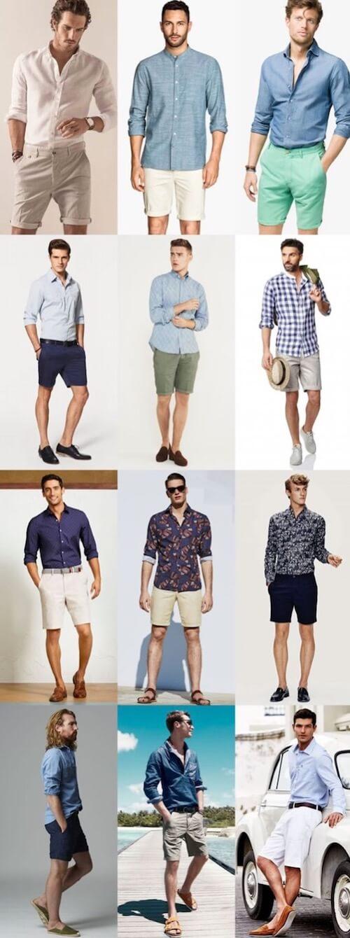 tall man shorts