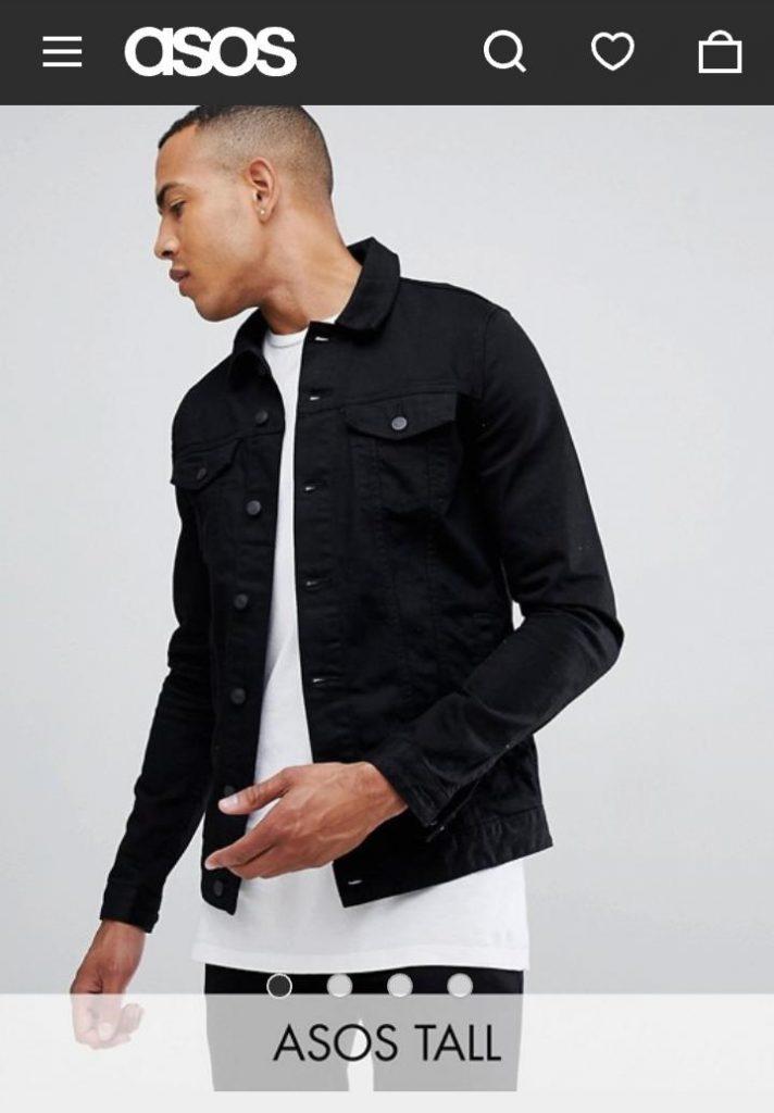 Asos Tall - skinny-denim-jacket-black
