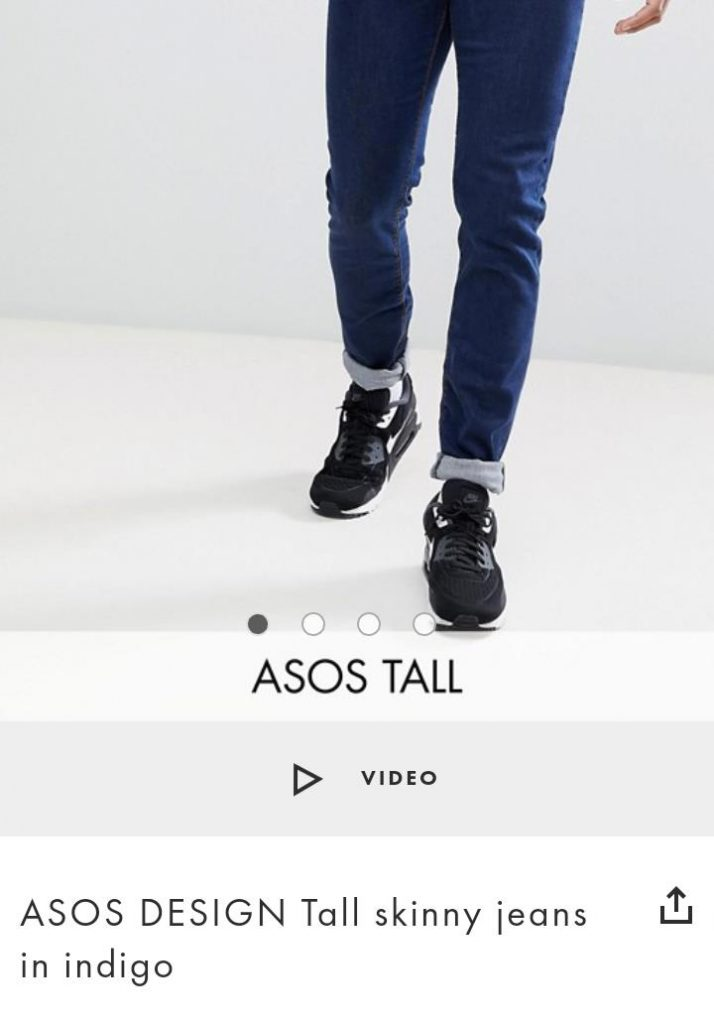 Asos Tall - skinny-jeans-indigo