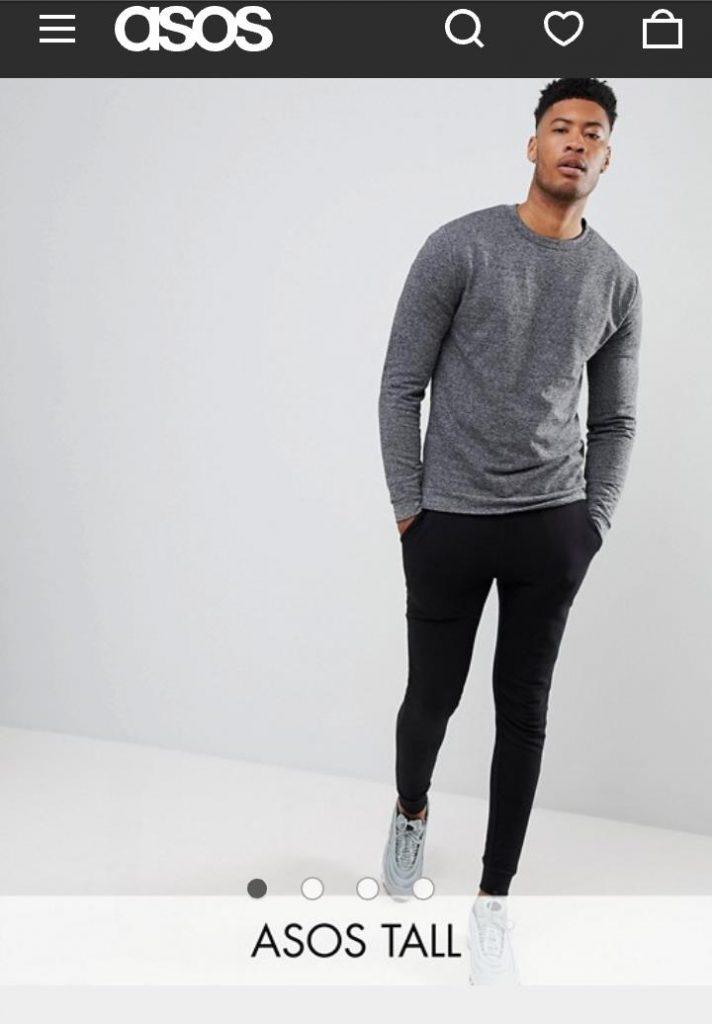 Asos Tall - sweatshirt-charcoal