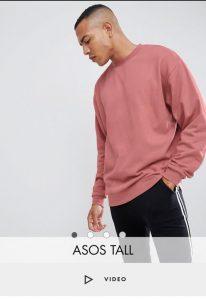Asos Tall - sweatshirt-pink