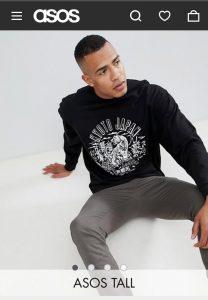 Asos Tall - oversized-sweatshirt-khyoto-print