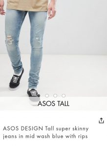 Asos Tall - skinny-jeans