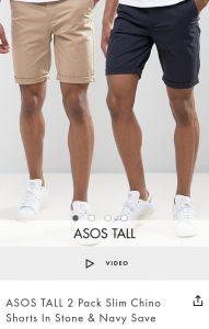 Asos Tall - slim-chino-shorts