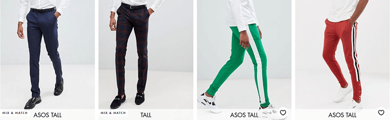 Pants for tall men - Asos