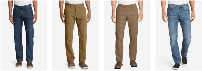 Pants for tall men - Eddie Bauer