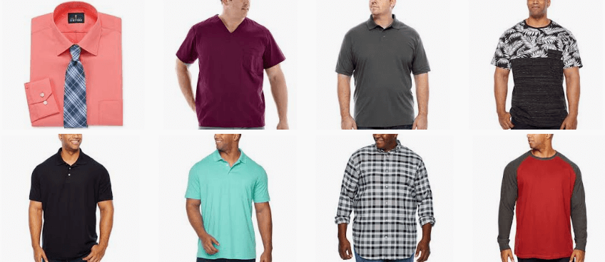 jcpenney tall mens clothing