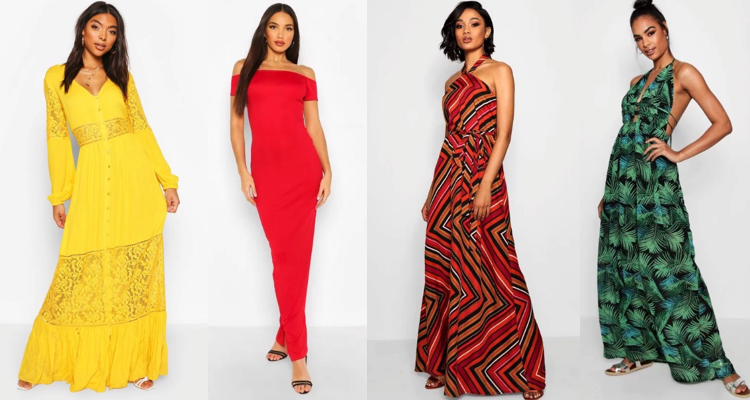Maxi dresses for Tall Women Boohoo