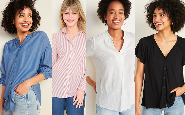 Tops for Tall Women - Old Navy